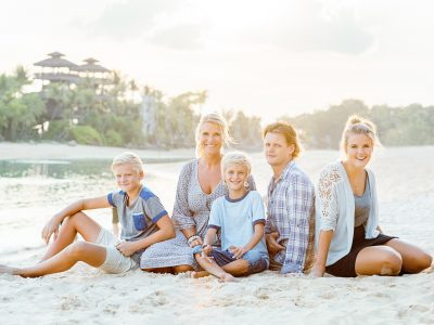 Family Sunset Shoot at Sentosa Island