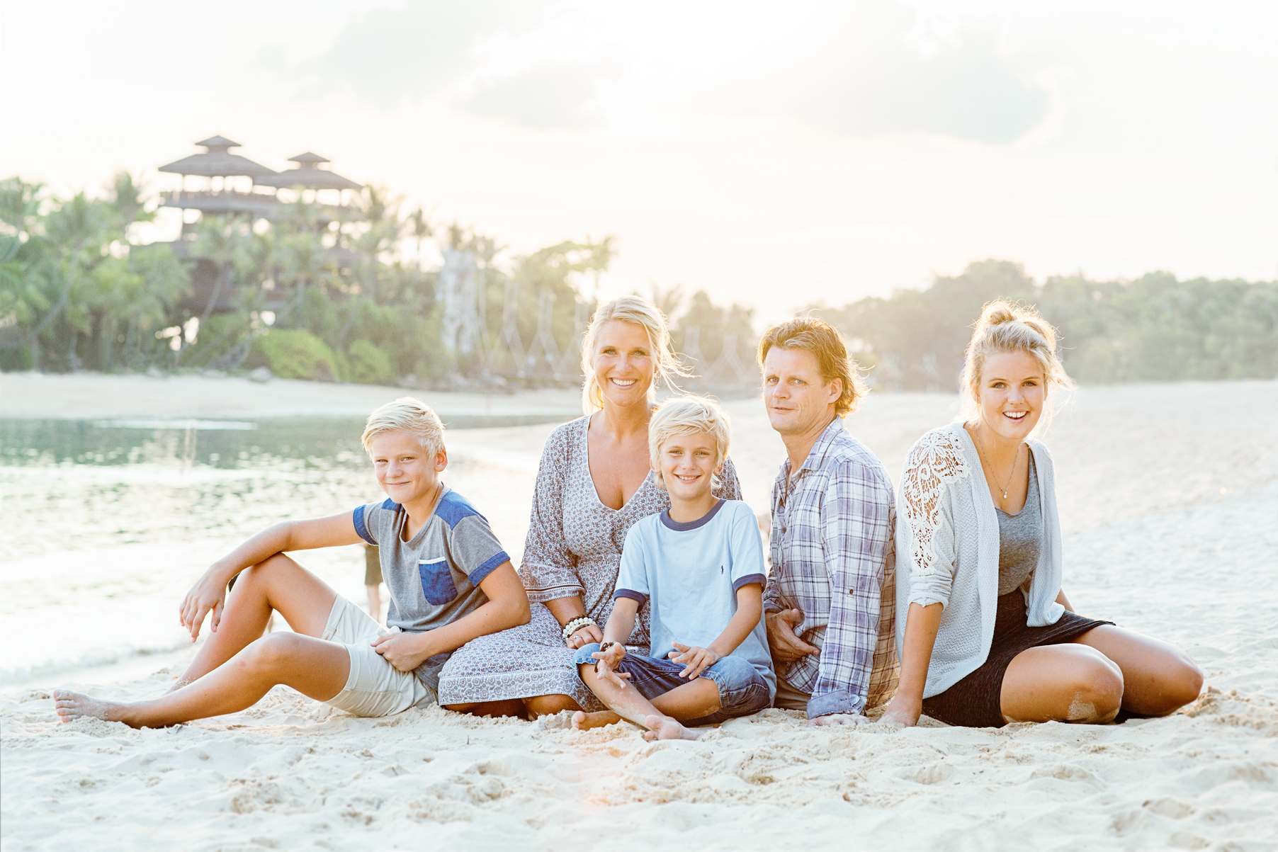 Lifestyle family beach photo