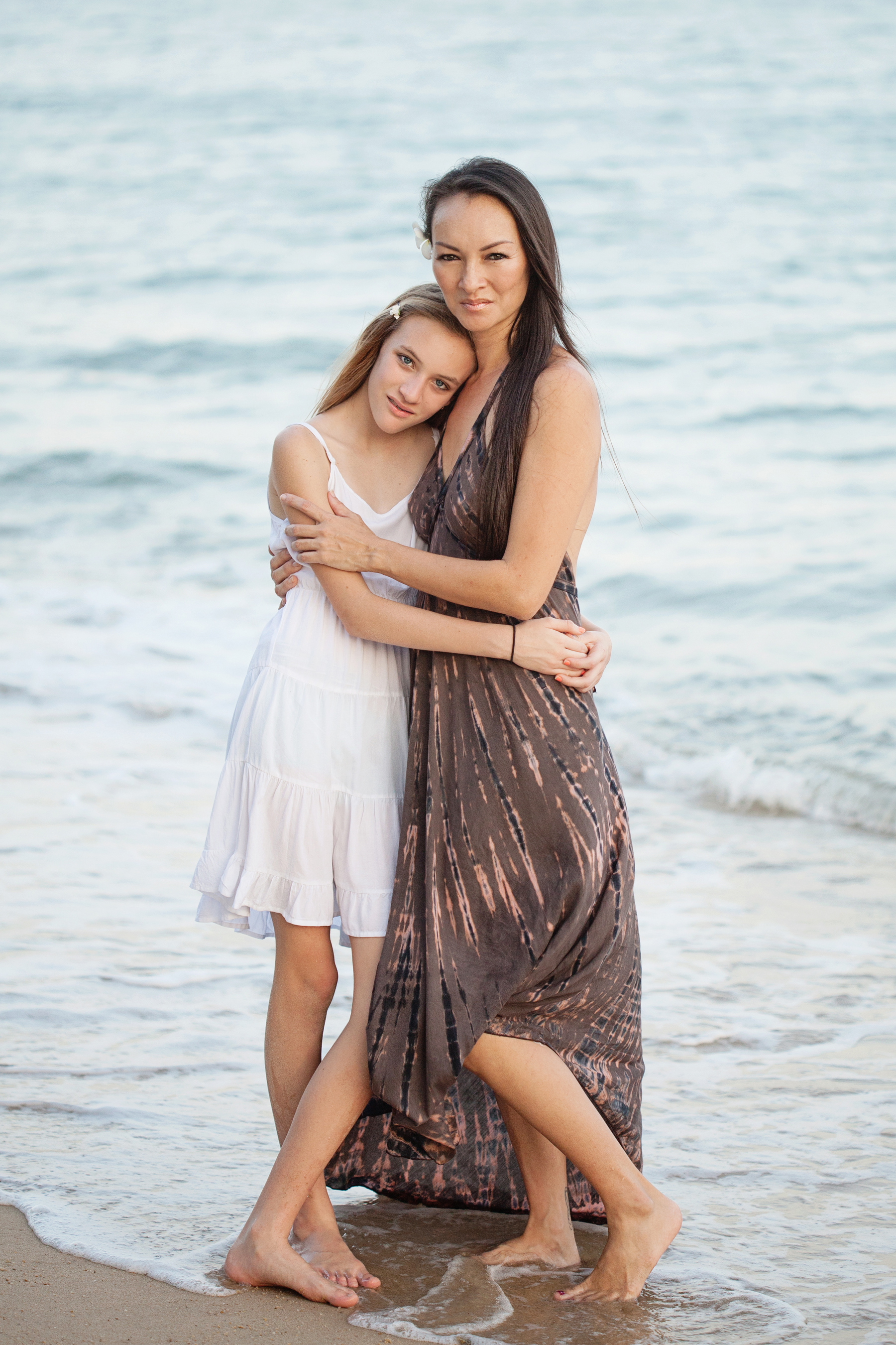 Mother and Daughter beach portrait
