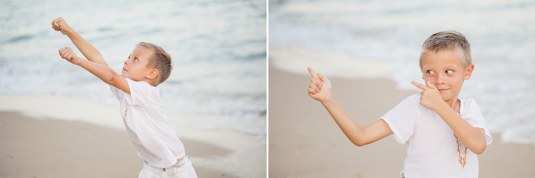Candid children's beach photography