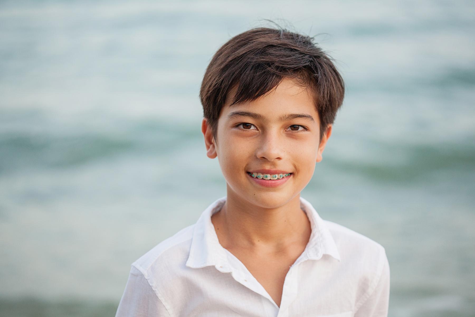 Children's portrait at the beach