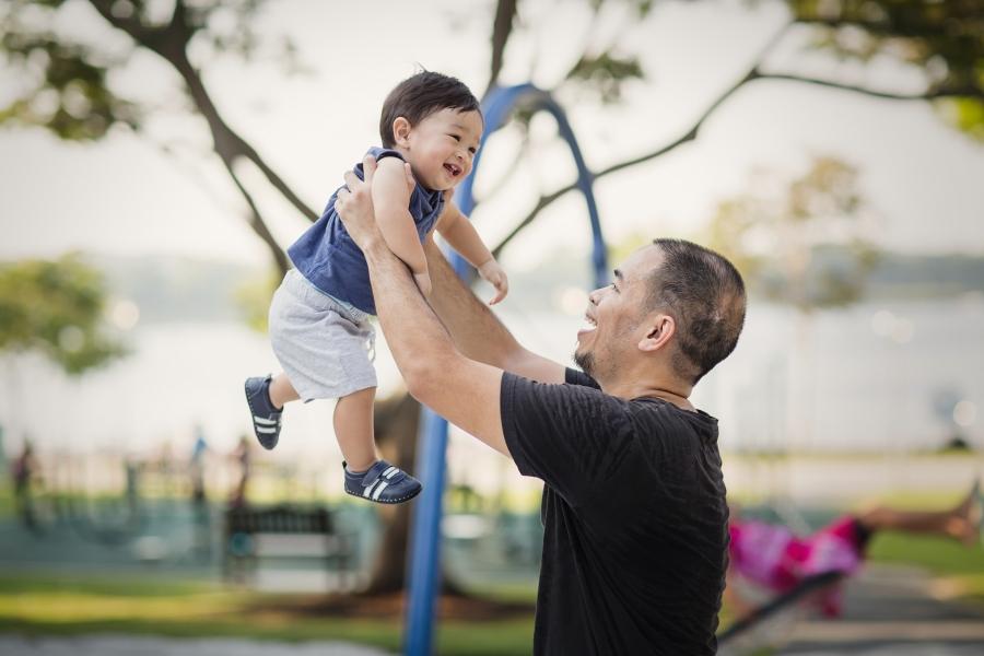 Childrens portrait outdoors Singapore