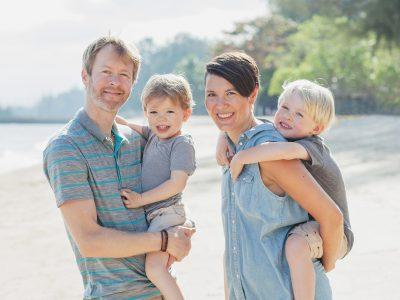 Bäcker family on the beach